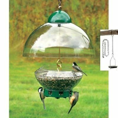 DROLL YANKEES BIG TOP SQUIRREL PROOF BIRD FEEDER PLUS FREE LOCKING CHAIN