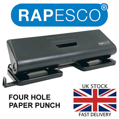 "4 Hole Paper Punch Perforator By Rapesco 16 SHEET FOUR HOLE PUNCH ""BARGAIN"""