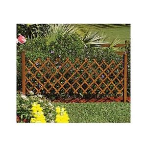 portable fence gate wood pet safety trellis dog puppy outdoor indoor