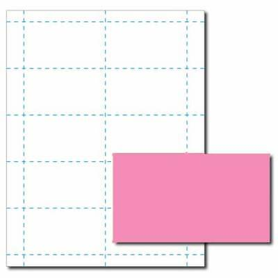 Pulsar Pink Business Card Printer Paper 25 Sheets Yields 250 Cards