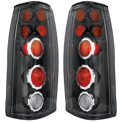 New Carbon Fiber Tail Light Set For 88-98 Chevrolet Cadillac GM2800104 GM2801104