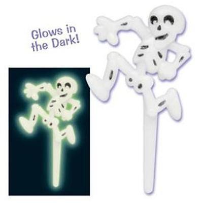48 Glow in the Dark Skeleton Cupcake Pick Halloween Party FUN (Fun Halloween Cupcakes)