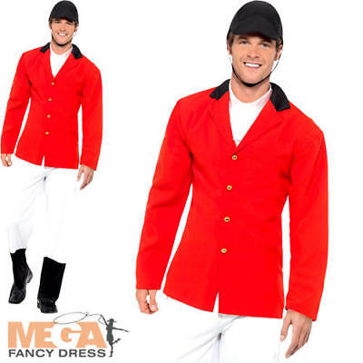 Huntsman Mens Fancy Dress Fox Hunter Sports Horse Rider British Adults Costume