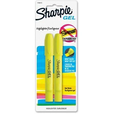 Sharpie Gel Highlighter Fluorescent Yellow Bullet 2pack