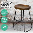 Unbranded Wooden Industrial Bar Stools