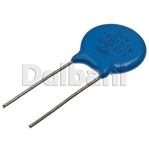 5pcs 14D151K Metal Oxide Varistor Dependent Resistor 150V 95VAC 125VDC