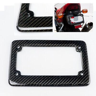 100% Real Carbon Fiber License Plate Frame for Motorcycles/Chopper/Cruiser/Bike