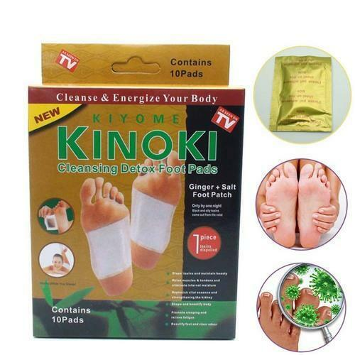 Kinoki Premium Ginger Detox Foot Pads Patch Organic Herbal Cleansing Detox Pads