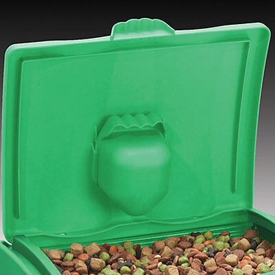 GARLAND 47 LITRE DRY BIN STORAGE CONTAINER SCOOP PET FOOD ANIMAL INSIDE OUTSIDE