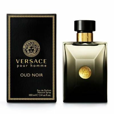 Versace Pour Homme Oud Noir Eau de Parfum 100ml Spray New Boxed Sealed