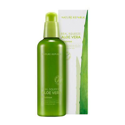 NATURE REPUBLIC Real Squeeze Aloe Vera Emulsion 125ml [Soothing] Korean Cosmetic