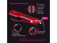 RAPHYCOOL Steam Hair Comb Straightner (RED) *BRAND NEW*