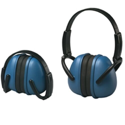 2 pk Blue Ear Muffs Hearing Protection Folding Adjustable Work//Hunting/Shooting