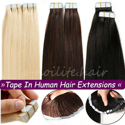 Best Quality 40Pcs Seamless Tape In Skin Weft Remy Human Hair Extensions US (Best Quality Weft Hair Extensions)