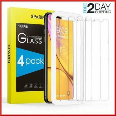 4 Protector de Pantalla Cristal Vidrio Templado Solo Para Iphone XR (Vidrio Glass)