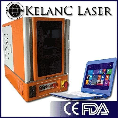 Tabletop Enclosed 50W Fiber Optic Marking / Engraving Laser FDA NEW 2YR Warranty