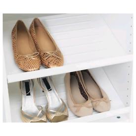 IKEA pax wardrobe shoe shelves