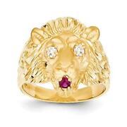 14kt Gold Lion Head Ring