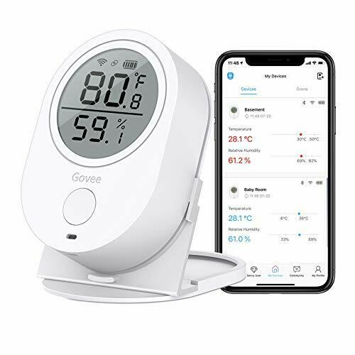 Temperature Humidity Monitor Govee WiFi Digital Indoor Hygro