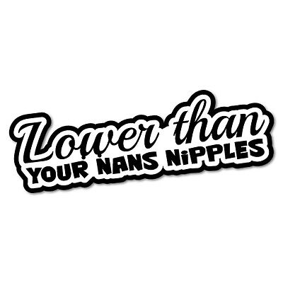 Lower Than Your Nans Nipples Sticker Decal JDM Car Drift Vinyl Funny Turbo #5...