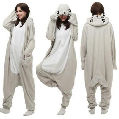 Hot Unisex Adult Seal Pajamas Kigurumi Cosplay Costume Animal  - Seal Costume Adults