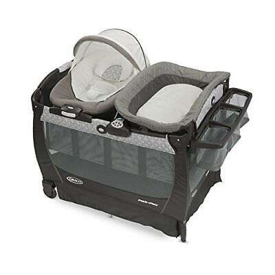 Graco Baby Pack 'n Play  Snuggle Suite LX Crib Bassinet Bouncer in Abbington