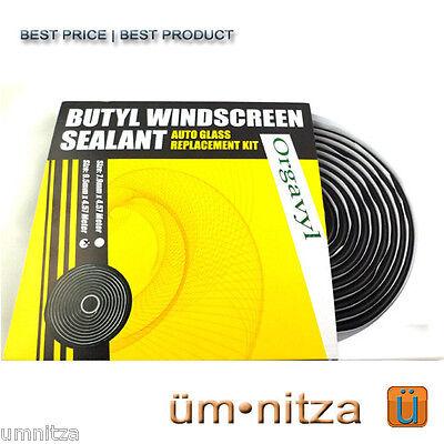 OCI Butyl Rubber Glue Headlight Windshield Speaker Sealant Retrofit 9.5 x 4.57