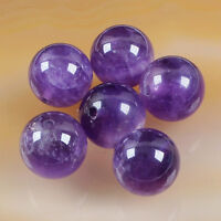 Huge 12mm Natural Amethyst Round Drilled Bead Stones -$3 Each