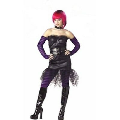 Gothic Rock Star Diva-Witch-Fairy Halloween Costume Juniors 3-5 Black #7006