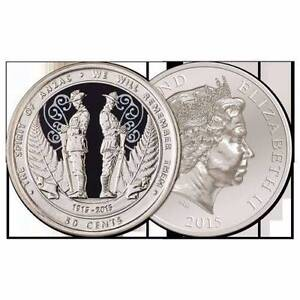 New Zealand 2015 Spirit of ANZAC 50 Cent Coin in Plastic Capsule Adelaide CBD Adelaide City Preview