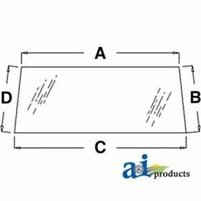 Lp4041 Zetor Rear Glass For Models 3320 3340 4320 4340 5211 5245 5320