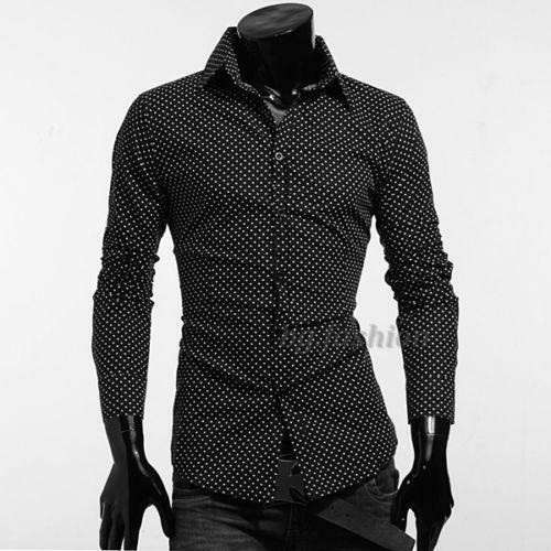 Blue Polka Dot Shirt Mens