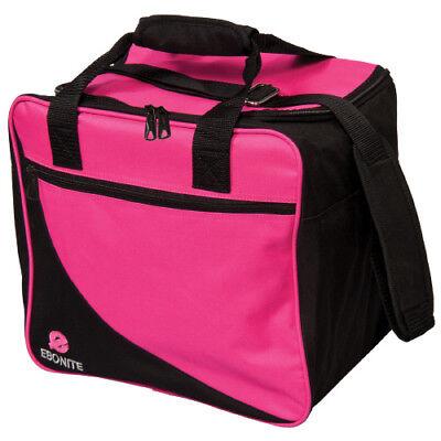 Used, Ebonite Basic Single Black/Pink 1 Ball Bowling Bag for sale  Webster