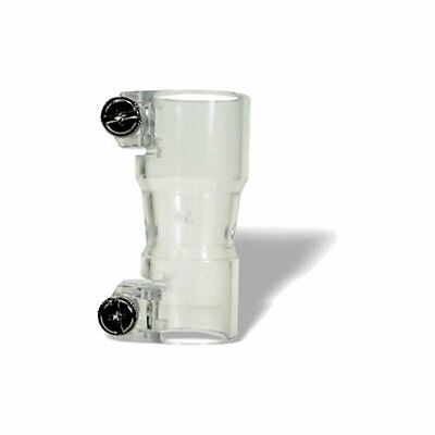 Kingman Spyder Vertical Feed Elbow adaptor with screws - Clear - Paintball - New