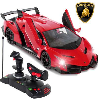 1 14 Scale Rc Lamborghini Veneno Gravity Sensor Radio Remote Control Car Red New