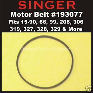 SINGER Motor Belt #193077 Fits 15-90, 66, 99, 185, 206, 306, 319, 327, 328, 329