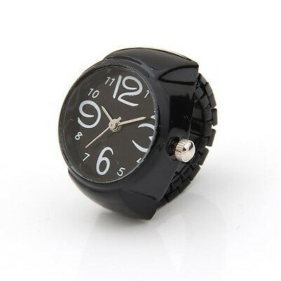 Arabic Number Quartz Men Pocket Finger Ring Watch 0.87