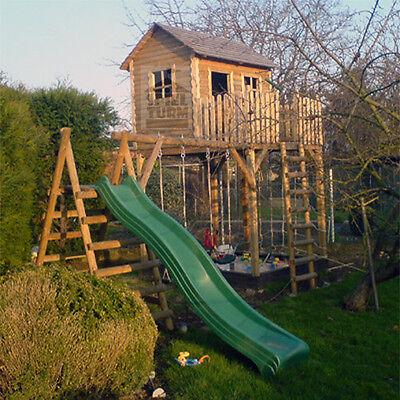 Spielturm Kinderhaus Stelzenhaus Spielhaus Baumhaus inkl. Rutsche und Sandkasten