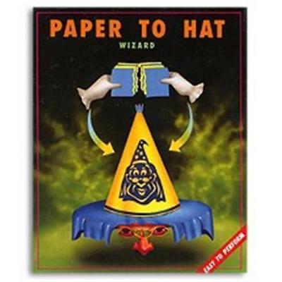 PAPER TO WIZARD HAT TEAR Magic Trick Kid Shows Torn Restore 10 Set Comedy Tissue](Paper Wizard Hat)