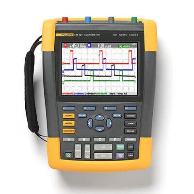 Fluke 190-104am 100 Mhz 4-ch 1.25 Gss Scopemeter Oscilloscope Dmm