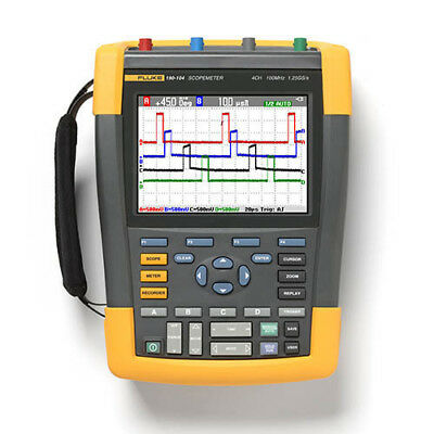 Fluke 190-104am 100 Mhz 4-channel 1.25 Gss Scopemeter Oscilloscope