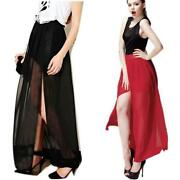 Sheer Chiffon Maxi Skirt