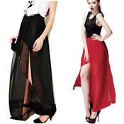 Sheer Chiffon Maxi Skirt