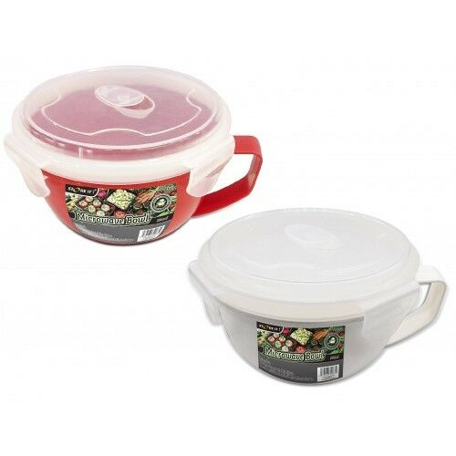 MICROWAVE FOOD BOWL Steamer With Lid Breakfast Pot Tub Food