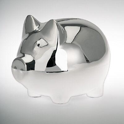 Hucha PLATA cerdo 10cm caja de Dinero Hucha HUCHAS Plateado