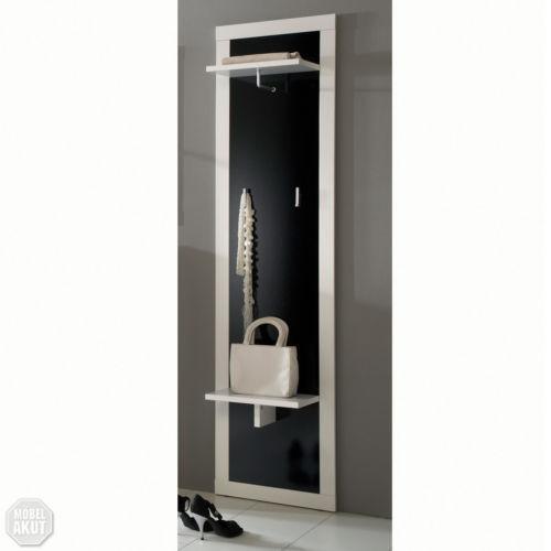 Garderobenpaneel schwarz m bel wohnen ebay for Garderobenpaneel schwarz hochglanz