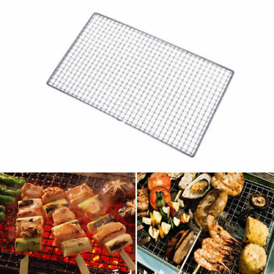 UK Stainless Steel BBQ Grill Grate Grid Mesh Rack Picnic Cooking Tool