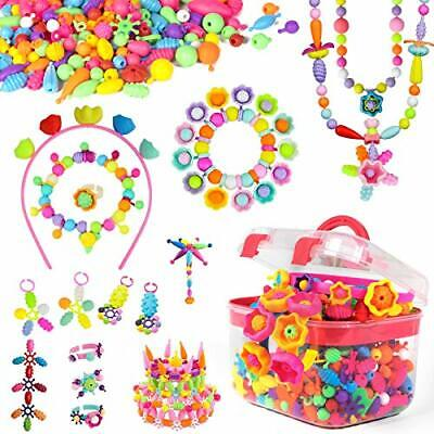 Pop Beads for Kids Jewelry Making Kit Toddlers Girl Toys Art and Craft Snap D...