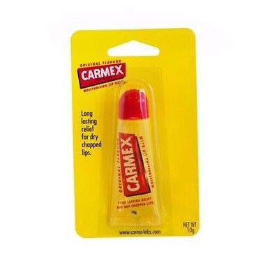 ツ BEST PRICE! 3 X CARMEX LIP BALM COLD SORE RELIEVER MOISTURIZING 10G TOTAL 30G