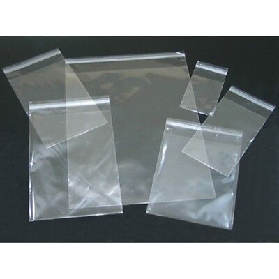 100pc Clear Poly Cello Bags Large Small Plastic Packaging Resealable Cello